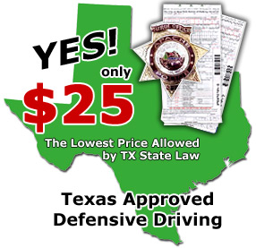 Texas Defensive Driving courses for the most discounted price!